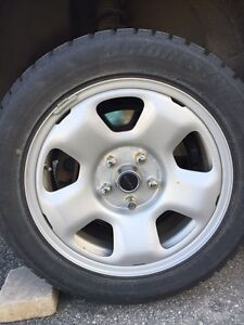 Bridgestone Blizzak WS70 winter tires 225 55 17  RIMS + TPMS