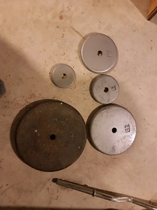 Cast iron weights $0.50/LB
