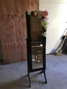 Jewelry cabinet/stand up mirror