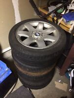 "BMW 16"" 5 bolt Rims and tires 205/50/16"