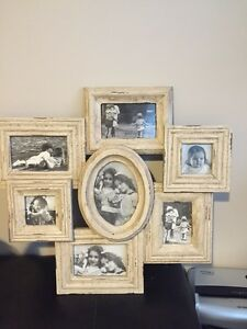 Vintage style rustic frame collage