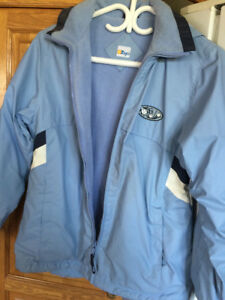 WIND/WATERPROOF JACKET WITH INNER FLEECE LINING-SIZE 14