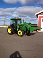 John Deere 5300 4x4 with loader and cab