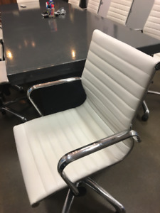 MOVING sale - White Office Chairs (12 Available)