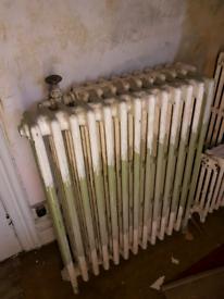 Original cast iron radiator (one of a set of 3)