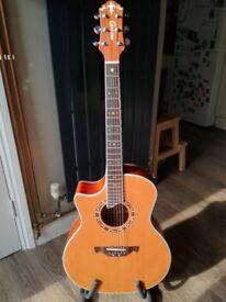 Crafter GAE-15L left handed electro acoustic guitar + gig bag