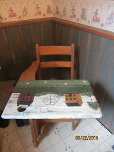 old school desk painted