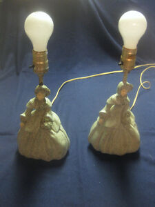 2 Old Table Lamps