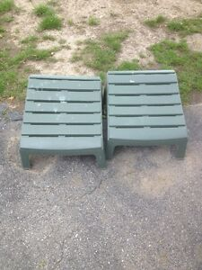 2 ANDIRONDACK FOOT STOOLS/MUSKOKA FOOTSTOOLS/PATIO