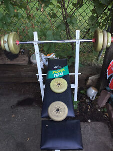 Barbell and Bench Set