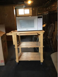 microwave stand, kitchen side table