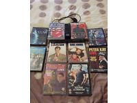 Sony DVD player plus 10 DVDs