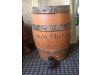 Cadoza sherry by stowells barrel with tap