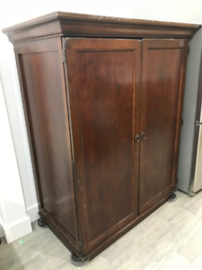 Mid-Century Modern Wooden Armoire/TV Unit