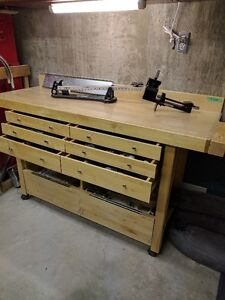 Golf club making bench and tools