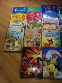 Various Walt Disney Books and illustrated popular children's books.