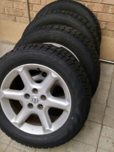235/55/17 Avalanche Extreme Snow tires on 114.3 rims