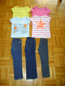 T-shirts, jeans,chandail,robes taille 4ans-5ans