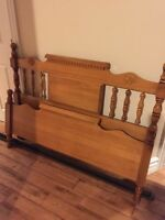 Real wood bed frame for double mattress