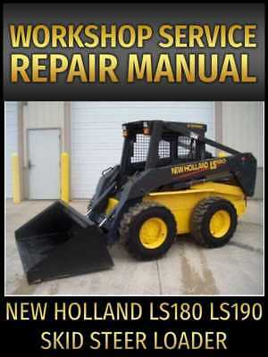 New Holland Ls180 Ls190 Skid Steer Loader Service Manual On Cd