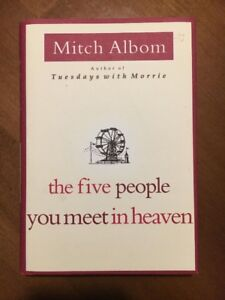 Hardcover Book - The Five People You Meet in Heaven