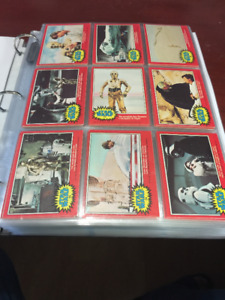 1977 O-Pee-Chee Star Wars 2nd  Set 66 Trading Cards 11 Stickers