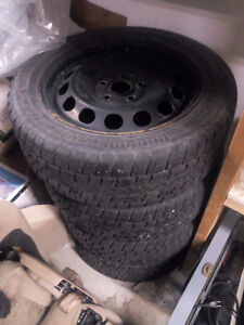 Four Arctic Claw Txi M+S Winter Tires with black Rims for Sale