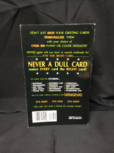 Never a Dull Card Soft Cover Book! - Grt Cond!