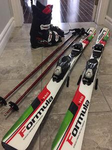 Skis, ski boots & poles