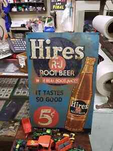 VINTAGE HIRES ROOT BEER SIGN