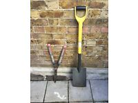 Garden Spade and hedge cutter