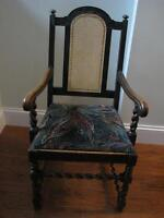 Antique Armchair Cane back