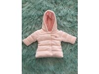 Next baby girls coat new from next upto 14lb great for winter