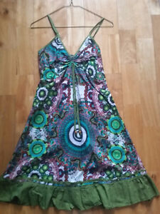 Multicolor print dress from Italy - size Small to Medium