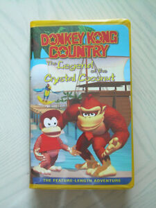 Vintage Donkey Kong VHS - Legend of the Crystal Coconut Movie