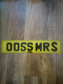 Cherished number plate 0055 MR S or MRS