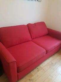 Red John Lewis Sofa Bed