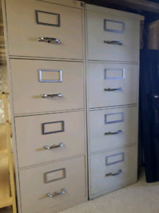 Two 4 Drawer metal filing cabinets