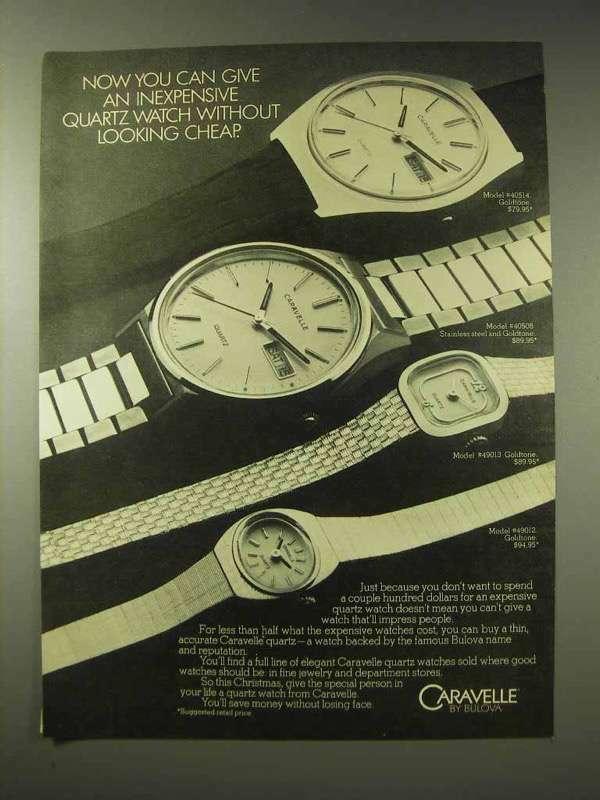 1980 Bulova Caravelle Watch Ad - 40514 40508 49013