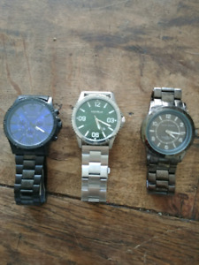 3 mens designer watches ( $100)