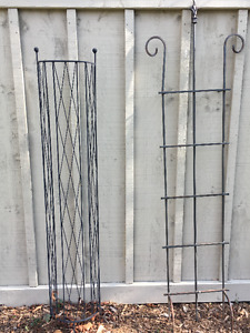 Four Garden Trellises - Black Wrought Iron