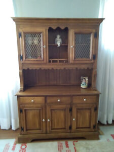 Wooden Hutch/Table/Chair Set