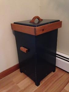 Wooden potato storage bin