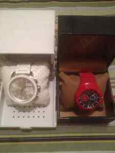 White Diesel and Red Guess Watch For Sale