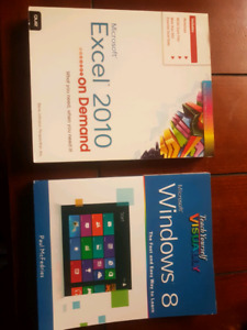 Excel 2010 and Windows 8 textbooks