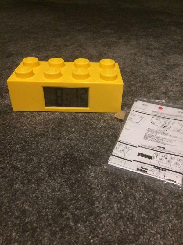 Yellow Lego Brick Alarm Clock With Instructions In Irvine North