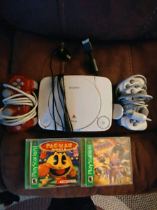 Ps1 Slim Game Console with 2 Controllers