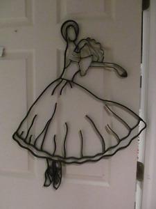 Ballerina metal wall hanging