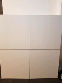 White ikea high gloss unit