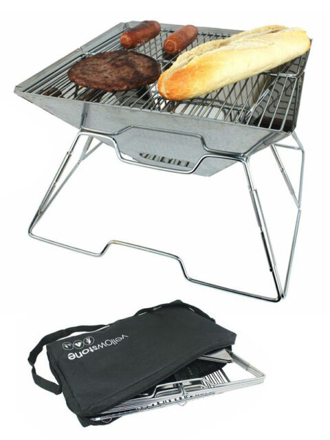 Yellowstone Pac Flat Folding Portable BBQ Beach Camping Festival Picnic Barbecue